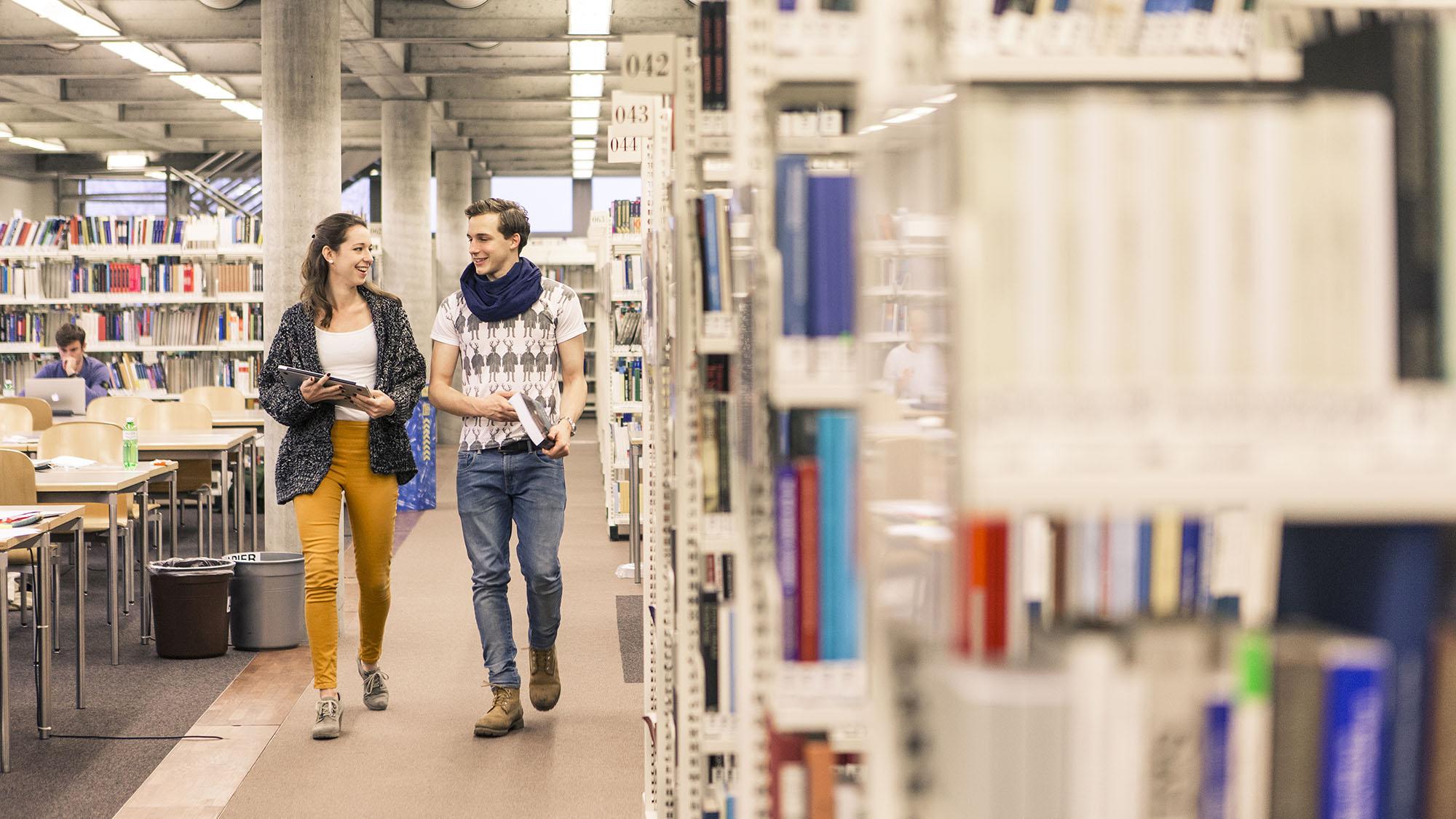 Immatrikulationsstatistik, Studierende in der Bibliothek